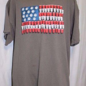 Patriotic Tee Shirt Gildan Cotton Red Solo Cup 2XL
